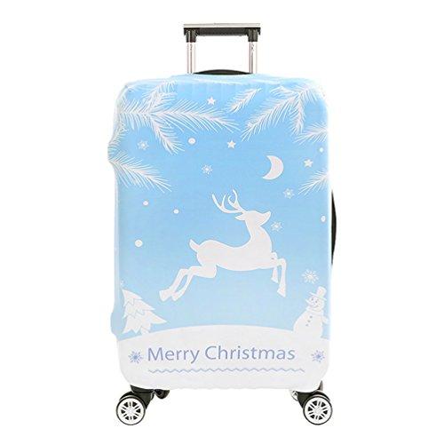 YiJee Natale Protettore dei Bagagli Valigia Borsa Elastica Creare Stampato Protettiva Cover 18-32 Pollici Come Immagine 1 L
