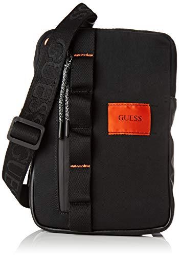 Guess - Sailor, Shoppers y bolsos de hombro Hombre, Negro Black, 4.5x25x17.5 cm W x H L