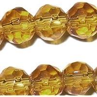 50X 12mm facettes cristal Perles de verre–Jaune doré–A3879/50perles