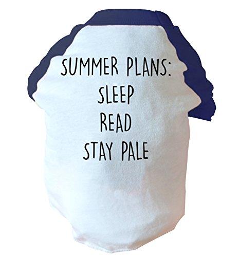 Flox Creative Sommer Pläne Sleep Lesen Stay Pale Zwei straffen Hund Weste Rosa oder Blau Gr. Small, blau (Teen Lesen)