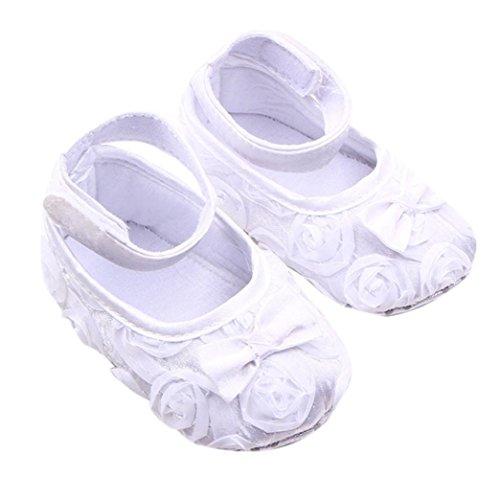 Tefamore Zapatos Bebé Embroma Los Recién Nacidos Del Paño Del Bowknot De...