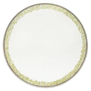 Denby Cork Backed 30.5 cm Monsoon Daisy Round Placemat Set, Set of 4,  Green/Cream