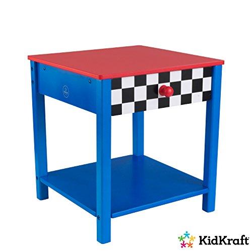 KidKraft Voiture de Course Table de Chevet, Bois, Multicolore, 31,12 x 33,66 x 35,56 cm