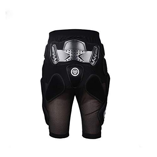 HBRT Protective Armor Pants, Motorrad Reiten Skifahren Snowboards Mountainbike Radfahren Racing Körperschutz Männer & Frauen Rüstung Shorts,L -