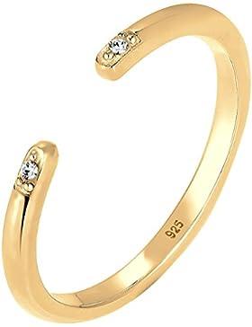 Elli Ring Minimal Swarovski Kristalle 925