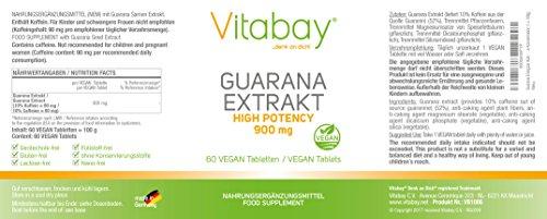 Guarana Energizer Kick - 900 mg - hochdosierte Formel - vegan - 60 Tabletten