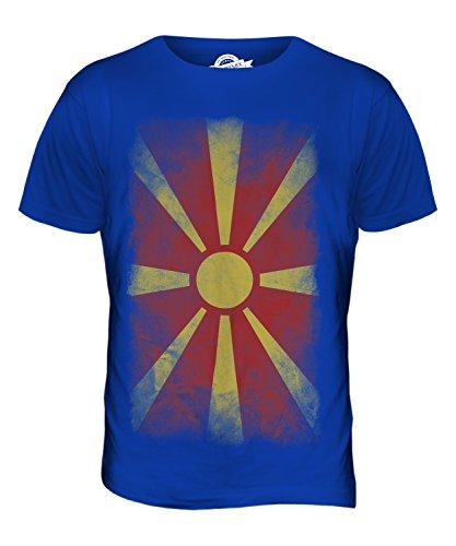 CandyMix Mazedonien Verblichen Flagge Herren T Shirt Königsblau
