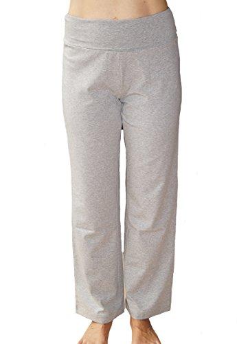 Schwangerschaft Hose Bio-Baumwolle Stillhose Umstandshose Umstandsmode Freizeithose Schlafanzughose Grau