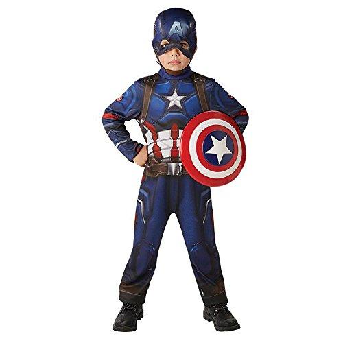 Marvel Kinder Kostüm Captain America Karneval Gr.7 bis 8 J. (Captain America Halloween)