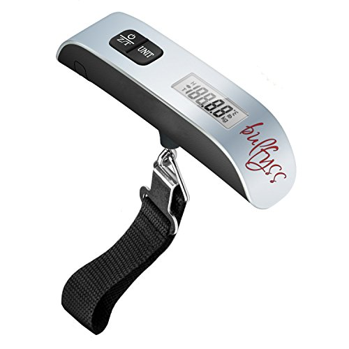 Bulfyss Luggage Travel Weighing Scales - 50Kg Portable Handheld Electronic Digital Lcd