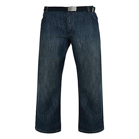 Carabou Men's Kingsize Indigo Tinted Wash Style Straight Leg Denim