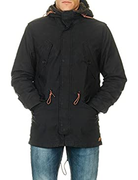 Jack & Jones Men's Men's Parka In Black Color Cotton