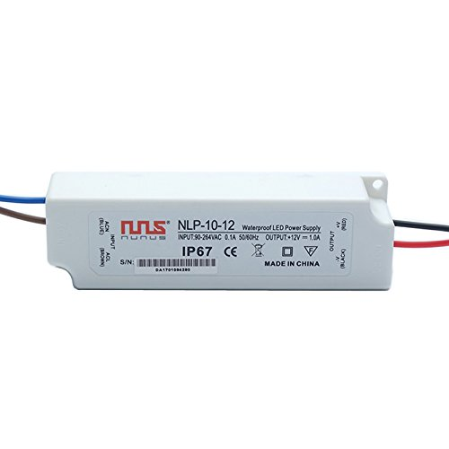 NuNus LED Transformateur Electronique 12V 10W IP67 LPV-10-12