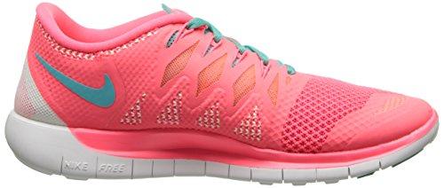 Nike Free 5.0, Chaussures de Running Femme Rose (Hyper Punch/Hyper Jade/Bright Mng 600)