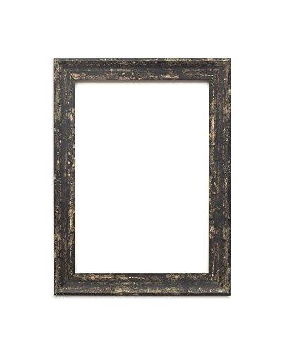 Löffel schwarz Distressed - 24 x 36 Zoll - Vintage Bilderrahmen Industrie-Look im Shabby Chic/Camouflage Foto-/Posterrahmen - Die Rahmengrösse beträgt 32 mm breit und 18 mm tief (36x18 Rahmen)