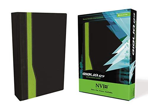 Biblia G3: Nueva Version Internacional Negro/Verde, Piel Italiana A Dos Tonos De Crecimiento Juvenil / Youth Specialies G3 Bible Black /green, Duo- Tone par Youth Specialties