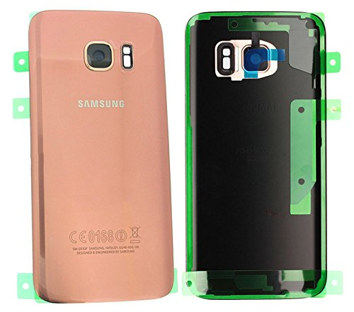 Original Samsung Galaxy S7 SM G930F G930 Akku Deckel Akkufachdeckel Akkudeckel Rückseite Back Cover Kameralinse + Klebestreifen Rosa Pink Gold - GH82-11384E