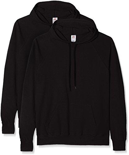 Fruit of the Loom Herren Sweatshirt Lighthweight Hooded Sweat Schwarz (Black)