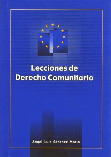 Lecciones de derecho comunitario