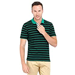 Proline Mens Dyed short sleeve polo (Black-XL)