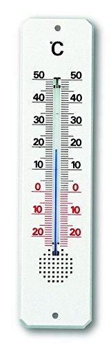 TFA 12.3010–Termometro da interni/esterni, plastica, colore: bianco - Vasca Idromassaggio Termometro