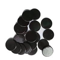 SchachQueen - 100 fichas de plástico, finchas de bingo 19 mm, pulgada ¾ color NEGRO
