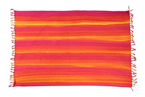 Sarong Pareo Wickelrock Strandtuch Tuch Wickeltuch Handtuch + Schnalle Streifen - Pashmina Schal Streifen