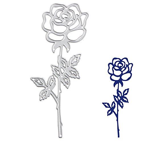 logres Romantic Rose Formen Schablonen DIY Scrapbook Album Karte Prägung Craft