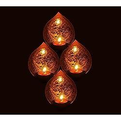 Tradicional té luz Portavelas/portavelas de metal vela soporte conjunto/funda soporte/Soportes para vela decorativa de mesa, portavelas con forma de Buda (luz para hogar sala de estar y oficina