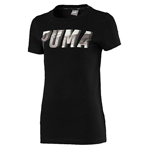 Puma Mädchen Style Graphic 1 T-Shirt, Cotton Black, 140