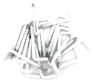 HX - 13–02 landau/20 crochets crochet au plafond ø 3,8 x 40 mm/90° blanc, plastique, 18 mm coudé