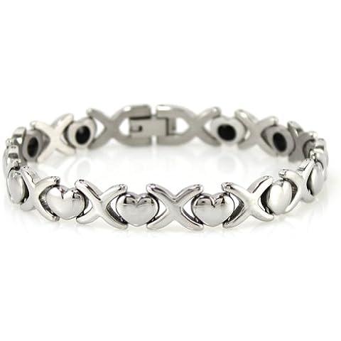 Nuovo da donna di 100% titanio germanio bracciale fascia equilibrio energetico Donna Love/019