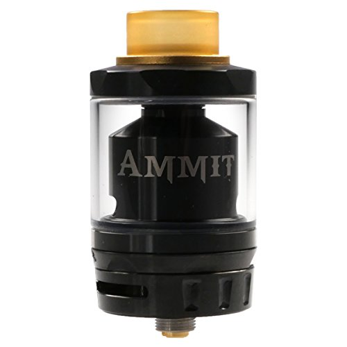 GeekVape Ammit Dual Coil RTA Clearomizer 6 ml, Selbstwickler, Durchmesser 25 mm, Riccardo Verdampfer für e-Zigarette, schwarz Dual Coil