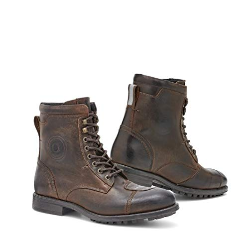 FBR039 - 0700-44 - Rev It Marshall WR Leather Motorcycle Shoes 44 Brown (UK 9.5)