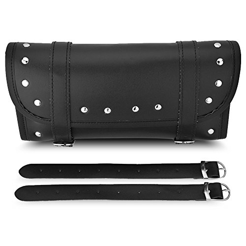 EBTOOLS Motorrad Satteltasche, Universal Motorrad PU Leder vorne und hinten Gabel Werkzeugtasche Gepäcktasche