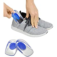 HAPPENWELL Gel Heel cups Silicon Heel Pad for Heel Ankle Pain, Heel Spur Shoe Support Pad for Men and Women Shock Cushion Pad for Heels