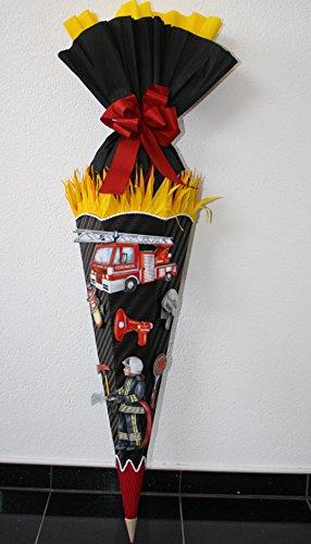 Walter Creativ Bastelset Schultüte Zuckertüte Feuerwehr mit 3D XXL Sticker Design 1 Schwarz -