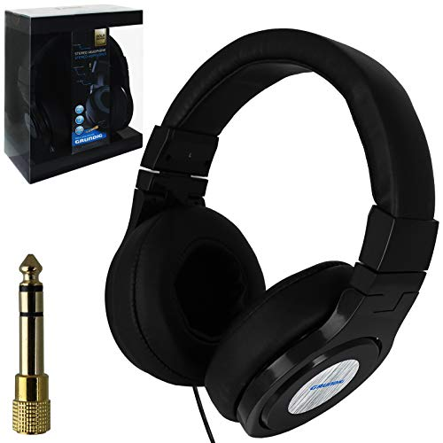 Grundig Stereo Kopfhörer mit Kabel 1,4m + 4m inkl Klinkenstecker 6,3 mm faltbar Lautsprecher On Ear