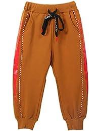 7a2a4526a88429 XWBO Jungen Jogging Hose Kinder Baumwolle Sweathose Baggy Freizeithose  Sporthose Elastischer Bund Kordelzug Long Pants Trainingshose