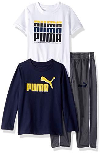PUMA Toddler Boys' Tricot Pant Set, Peacoat, 3T