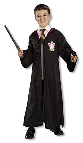 che Kostümbox für Kinder: Zauberergewand, Brille, Zauberstab (Erwachsene Quidditch Kostüm)