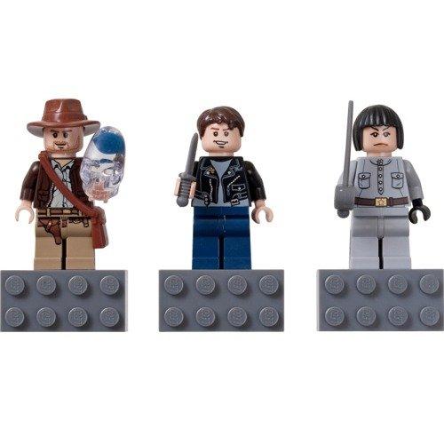LEGO Indiana Jones Magnet Set [Indiana Jones, Matt Williams, Irina Sparco] 852 719 (japan import)