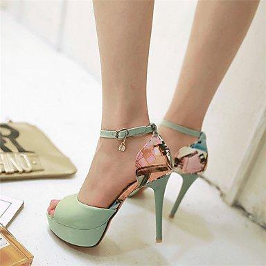 LvYuan Da donna-Sandali-Casual Serata e festa-Altro-A stiletto-PU (Poliuretano)-Verde Rosa Bianco Green