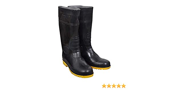 ed5d3a2111f ISI mark Safety Gumboot Step Up (15 Inch) with steel toe, Various Chemicals  and Oil/Acid resistant, Anti-Slip. Providing maximum safety. Inside ...