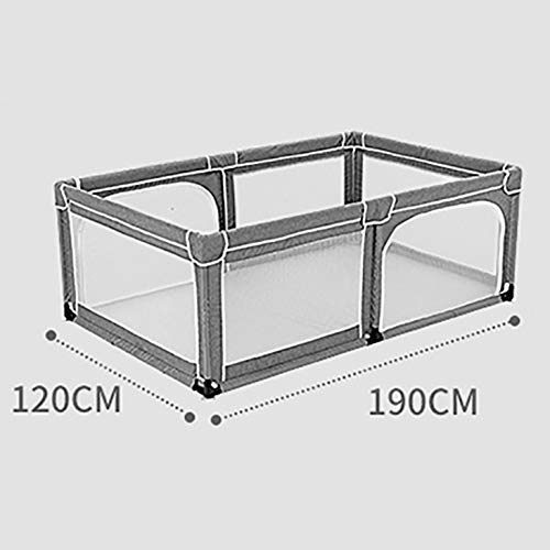 Baby Playpen Fence Indoor and Outdoor Children Toddler Security Fence Toy House, Height 70cm, Size Optional (Size : 120×190cm)  SUBBYE