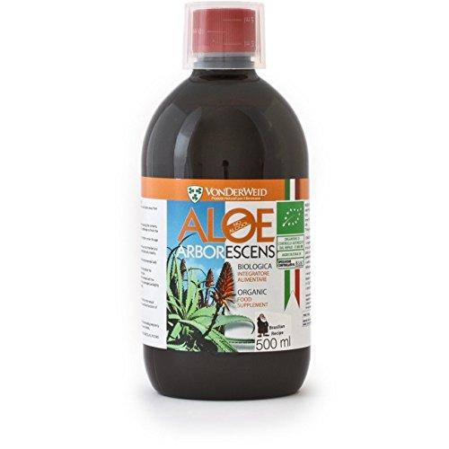 Aloe arborescens, Brésilien Formule 500 ml Bio sans alcool