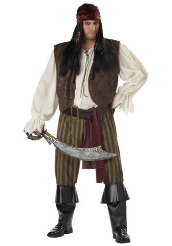 llektion 31610 Rogue Pirate Adult Plus-Plus-Kost-m Gr--e 48-52 ()
