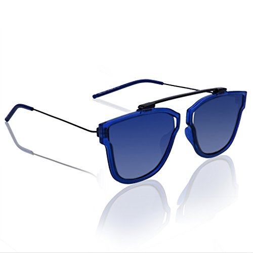 Knotyy Super high quality Sunglasses, UV Protected Unisex Exclusive Mirrored Blue