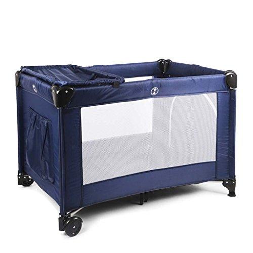 Mesa para cambiar pañales, 0~6 años de edad, portátil, puede mover mesa para pañales, cuna con cama para mosquiteros, carga 36 kg