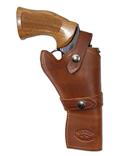 Barsony Holsters & Belts Größe 6 Beretta Colt Ruger S&W Rechte Seite Braun Westernholster aus Leder
